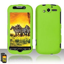 For T-Mobile myTouch 4G Rubberized Hard Case Snap Phone Cover Rubber Neon Green