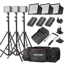 Neewer CN-216 LED Video Light Kit with Deluxe Bag for Canon Nikon Sony  DSLR