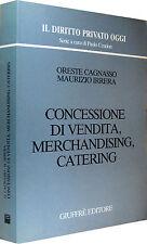 CAGNASSO Concessione di vendita merchandising catering GIUFFRè 1993
