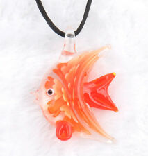 fashion 1pc lovely fish Murano Lampwork Glass bead pendant Necklace p864_2