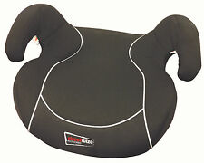 Black Padded Child / Junior Padded Booster Car Seat Cushion - 15-36kg / Age 3-12