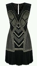 Karen Millen Black Chainmail Dress 10UK