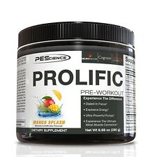 PES PROLIFIC Pre Workout Energy Pump Focus Mood Performance, 20 Servings MANGO