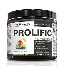 PES PROLIFIC Pre Workout Energy Pump Focus Mood Performance, 20 Servings MANGO