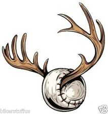 DEER BASEBALL HELMET STICKER