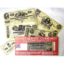 CIVIL WAR 2nd CONFEDERATE CURRENCY BATTLE SET REPO $500.20.10. 2.1.AND .75 Cen