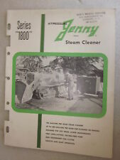 1960 Hypressure Jenny Steam Cleaner Series 1800 brochure