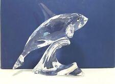 Swarovski Crystal Orca Whale Glass Figurine 622939 Retired 2005 Swan Logo