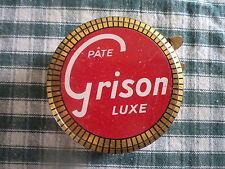 Boîte en fer 1950 Cirage Graisse Pâte GRISON produit d' entretien Cuir Chaussure