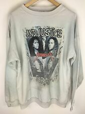WHITE crewneck Metallica sweatshirt super rare sz large justice for all