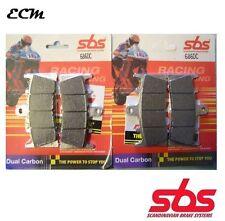 SUZUKI GSX-R 1000 K2 2002 GSXR SBS SET FRONT BRAKE PADS Dual Carbon 686DC