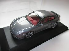 Porsche 911 (997-2009) Turbo Coupe grau grey metallic Minichamps 1:43 WAP boxed!
