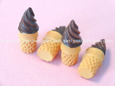 12 Resin Ice Cream Cone Cabochon Button Scrapbooking Craft N102