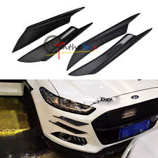 (4) Universal Carbon Fiber Front Bumper Canards Splitters for Honda AUDI VW BMW