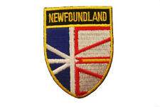 NEWFOUNDLAND & LABRADOR SHIELD CANADA PROVINCIAL FLAG IRON-ON PATCH CREST BADGE