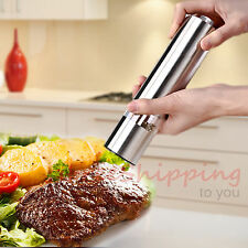 Kitchen Stainless Steel Gourmet Electric Salt Pepper Mill Grinder with Light
