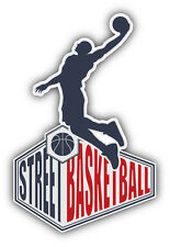 Street Basketball Emblem Car Bumper Sticker Decal 3'' x 5''