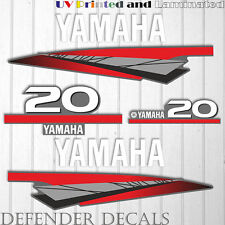 Yamaha 20 HP Two 2 Stroke outboard engine decal sticker kit reproduction 20HP