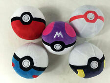 Pokemon Pikachu Pokeball Poke Ball Plush Toy 5pcs SET Xmas Gift Soft Doll 5""