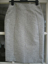 Jaeger Skirt Size 8 US 6 Gold Metalic Evening Party Pencil EUR 36