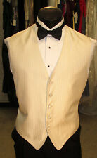 Mens Formal Vest Ivory Size Medium Bow Tie Included