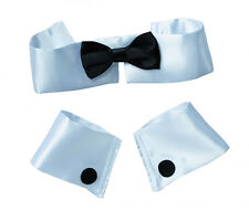 Collar Tie and Cuff Set Stripper Playboy Bunny Costume Accessory fnt
