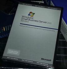 New Microsoft Windows Small Business Server 2011 Standard 5 client licenses