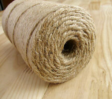 4 PLY  RUSTIC NATURAL JUTE BURLAP TWINE HESSIAN STRING SHABBY. CHIC