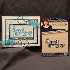Tattered Lace dies HAPPY BIRTHDAY WITH EMBELLISHMENTS words phrases die D296 New