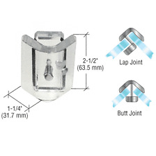 Clear Acrylic 90 Degree Angle Mall Glass Clamp