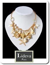 Halskette Kette Collier Kollier Blogger Choker Muscheln Seesternen Perlen Paris