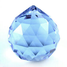 30mm Vintage Crystal Blue Feng Shui Ball LW