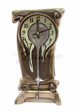Art Nouveau Melting Clock Sculpture Figurine Statue