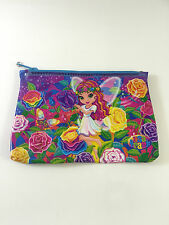 Vintage LISA FRANK Fairy Roses Pencil Pouch Makeup Cosmetic Clutch Zipper RARE