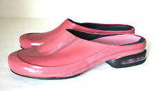 NIKE  AIR G SENES PINK PATENT GENUINE LEATHER FLAT MULE SHOES SIZE 7 B EXCELLENT