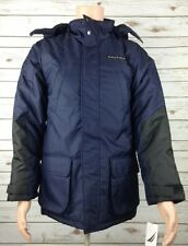 NWT Nautica Performance Mens YOUTH XL 18/20 Blue Black Winter Parka Coat