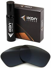 Polarized IKON Replacement Lenses For Oakley Sideways Sunglasses - Black
