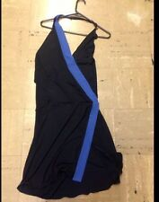 Emporio Armani Halter Dress Blue Black Size 6