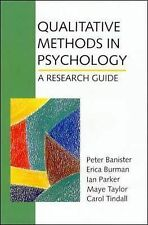 Peter Banister, Erica Burman, Ian Parker Qualitative Methods in Psychology: A Re