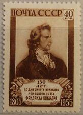 Russia Unión Soviética 1955 1759 1756 150 muerte Friedrich von Schiller poeta **