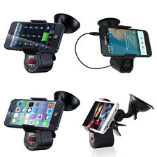 Car Mount Holder Charger Wireless In-Car FM Transmitter for iPhone 5 5S iPhone6
