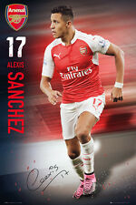 Rare ALEXIS SANCHEZ Arsenal FC SIGNATURE SERIES Football Soccer Action POSTER