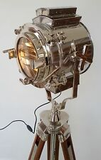 Vintage Theatre SEARCH Light The Halloween Solid Wooden Tripod  Floor Lamp Gift