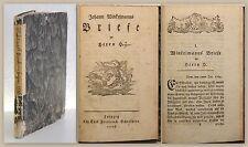 Winkelmann: Briefe an Herrn H. 1776 Erstausgabe - Briefwechsel, Korrespondenz xz