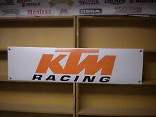 Ktm racing pvc bannière pour atelier ou garage usage, RC390, 450SX, moto 3, sxf, etc.