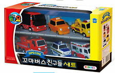 The Little Bus TAYO's Friend Mini Car 6pcs Toy Pat,Nuri,Frank,Alice,Toto,Cito