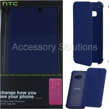 HTC One M9 2015 Dot View Case Cover Blue Ink, 99H20104-00 OEM Genuine