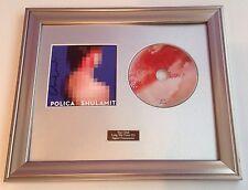 SIGNED/AUTOGRAPHED POLICA - SHULASMITH CD FRAMED PRESENTATION. RARE