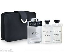 Bvlgari Man by Bvlgari 4 Pc Gift Set 100ml EDT Spray,Aftershave & Shampoo 75mlX2
