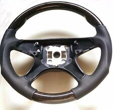 For Mercedes W204 C Class Steering Wheel Bird Eye Wood Black Leather Sport New